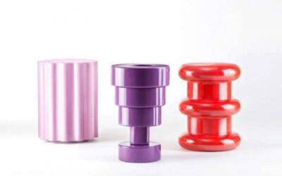 Calice Colonna Pilastro Kartell sgabello vaso tavolino