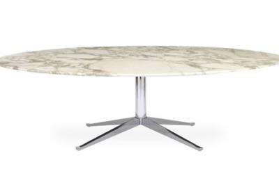 Florence Knoll tavolo ovale e tondo Knoll
