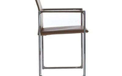 Eve Cassina sedia poltroncina in cuoio design Piero Lissoni