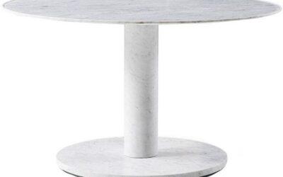 10 Cassina199  tavolo rotondo in marmo bianco di Carrara