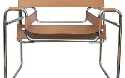 Wassily Knoll poltrona sedia in cuoio naturale