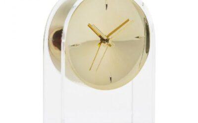 Air du Temps Kartell orologio da tavolo trasparente / oro