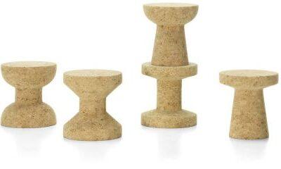 Cork Family Vitra sgabelli in sughero design Morrison