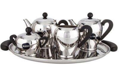 servizio caffettiera teiera Bombè Alessi