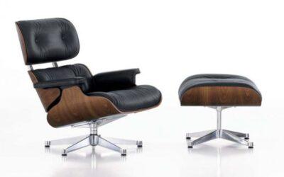 Lounge Chair & Ottoman Vitra poltrona e poggiapiedi