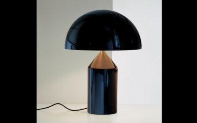 Atollo OLuce lampada nera