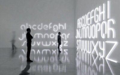 Alphabet Of Light Artemide lettere luminose