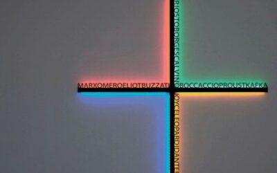 Hsiang Artemide lampada croce design Mimmo Paladino