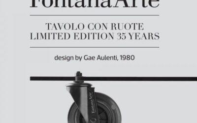 Tavolino Fontana Arte edizione limitata Gae Aulenti