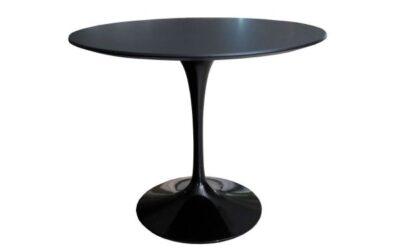 Knoll Saarinen tavolo tondo Nero