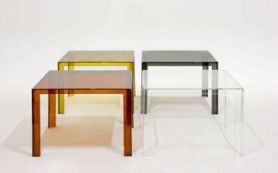 Invisible Table Kartell tavolo quadrato  trasparente