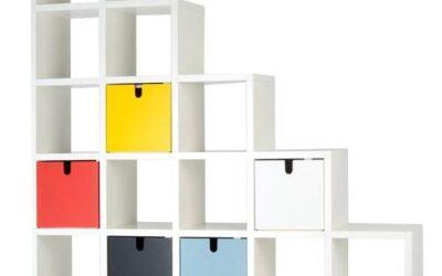 Polvara Kartell libreria con cassettoni componibile