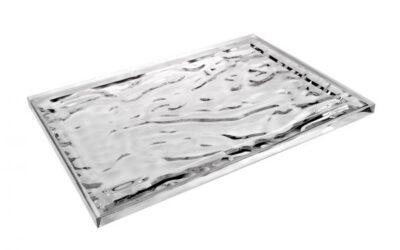 Dune Kartell vassoio in plexiglas trasparente